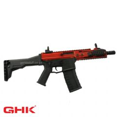 GHK G5 Gas Blowback Airsoft Rifle (Red & Black Body)